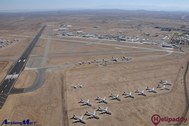 Mojave Air & Space Port by helicopter
