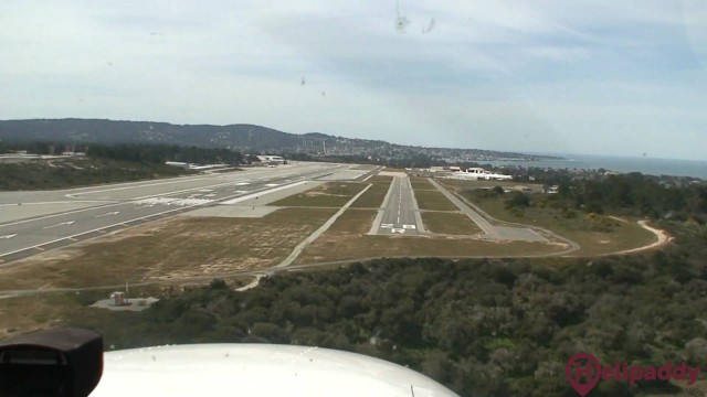 Monterey Regional Airport by helicopter