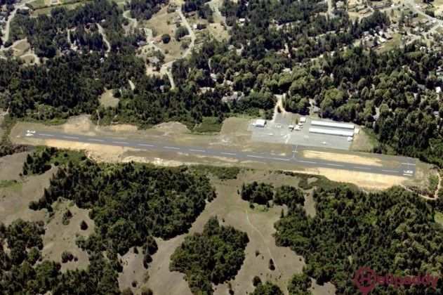 Willits Airport by helicopter