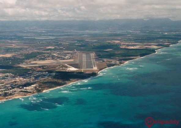 Kona Intl At Keahole  by helicopter