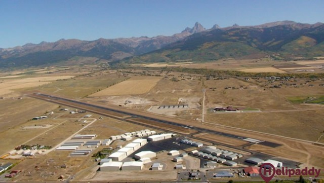 Teton Aviation Center by helicopter