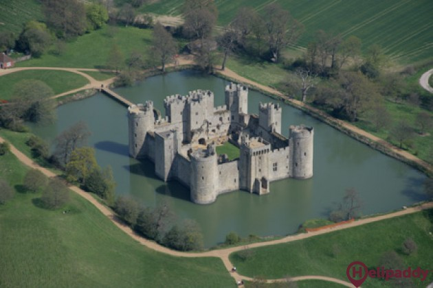 Bodiam by helicopter