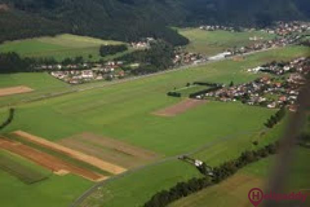 Leoben-Timmersdorf by helicopter