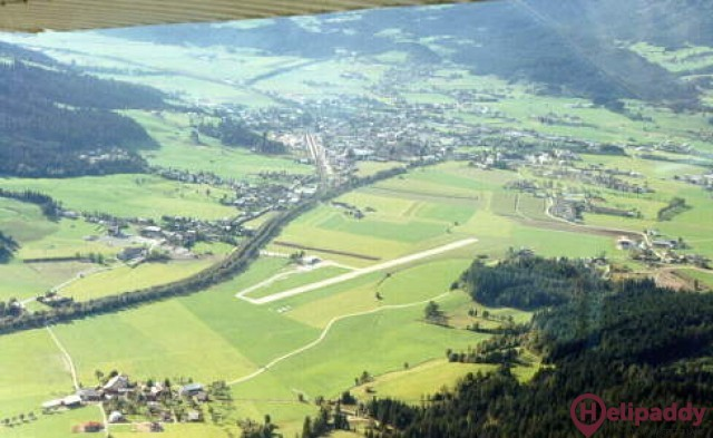 St Johann by helicopter