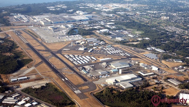 Snohomish County - Paine Field Airport by helicopter