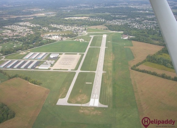 Indianapolis Metropolitan Airport by helicopter
