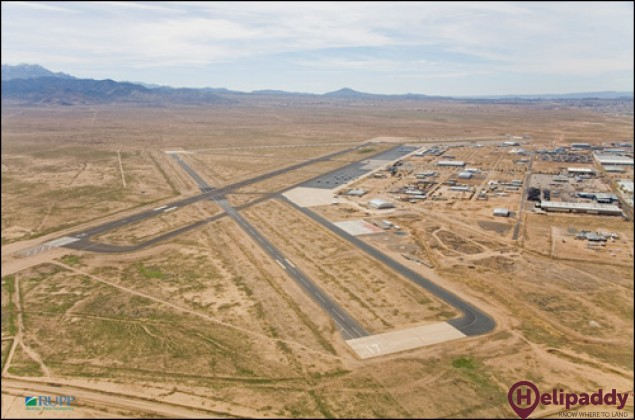 Kingman Airport by helicopter