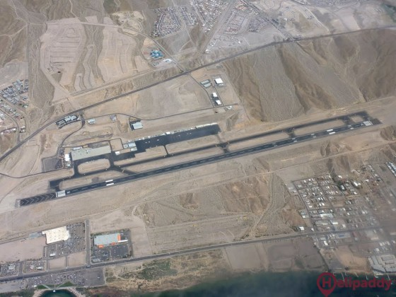 Laughlin/Bullhead International Airport by helicopter