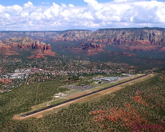 Sedona Airport by helicopter