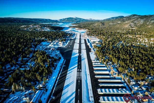 Big Bear Airport (L35) by helicopter