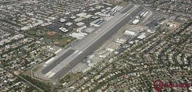 Santa Monica Airport by helicopter