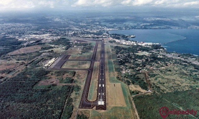 Hilo International  by helicopter