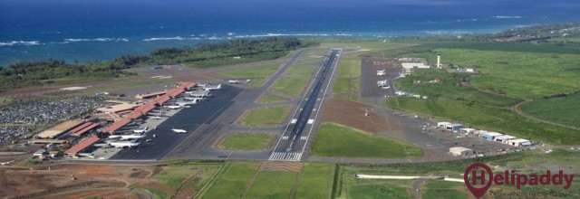 Kahului Airport by helicopter