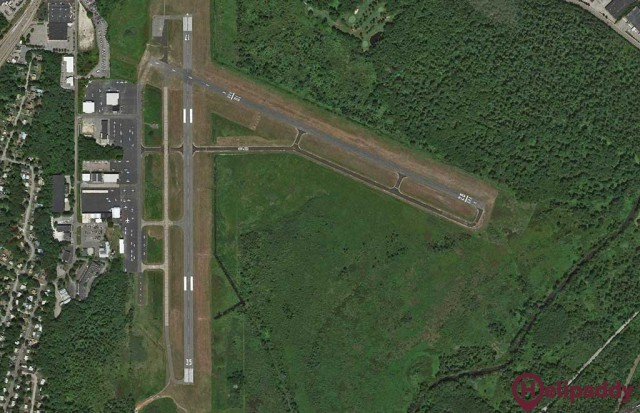 Norwood Memorial Airport by helicopter