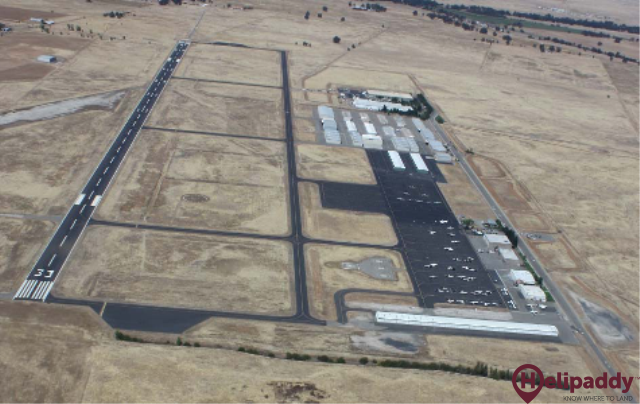 Lincoln Regional Airport (California) by helicopter