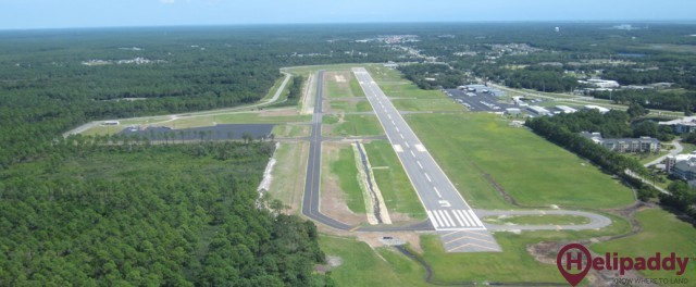 Cape Fear Regional Jetport by helicopter