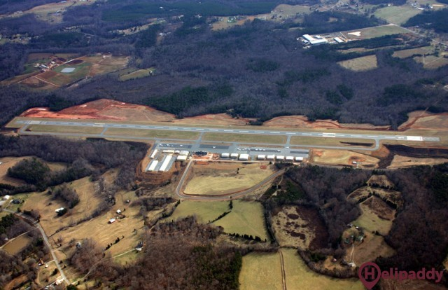 Lincoln County Airport by helicopter