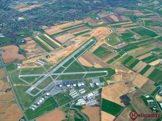Lancaster Airport by helicopter