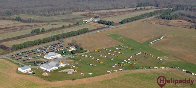 Massey Aerodrome & Air Museum  by helicopter