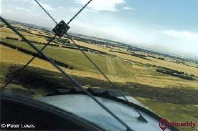 Torquay Airfield by helicopter