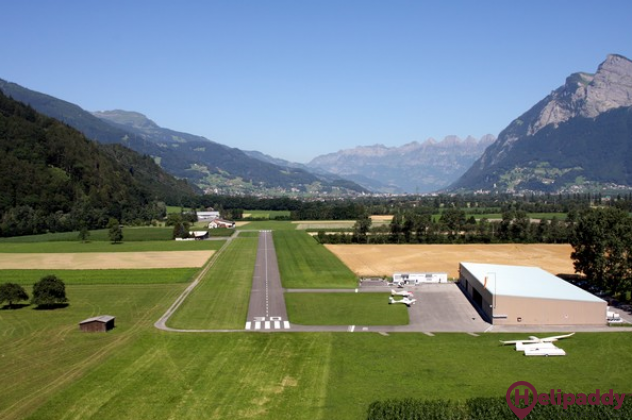 Flugplatz Bad Ragaz by helicopter