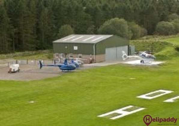 Aberdeen (Culter) Helipad by helicopter