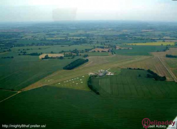 Andrewsfield Airfield by helicopter