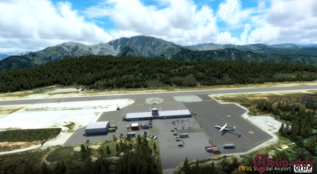 Sogndal Airport, Haukåsen by helicopter