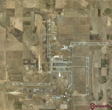 Denver International Airport  by helicopter