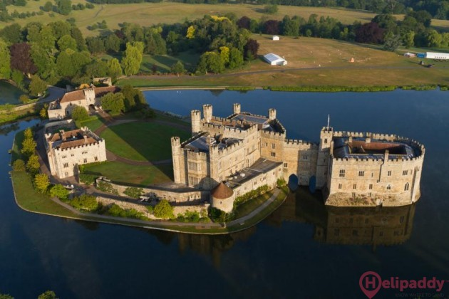 Leeds Castle by helicopter