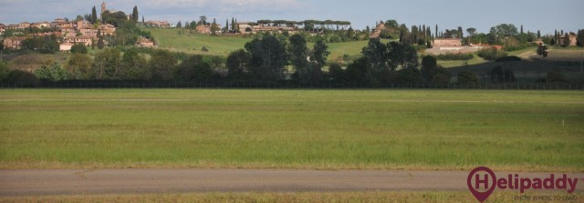 Siena Airport by helicopter