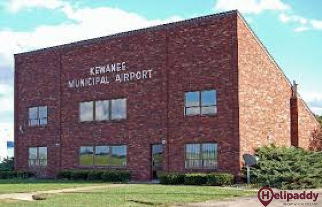 Kewanee Municipal Airport by helicopter