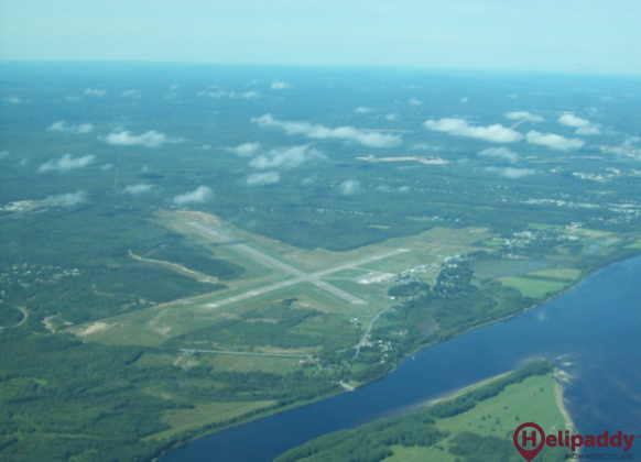 Fredericton International Airport by helicopter