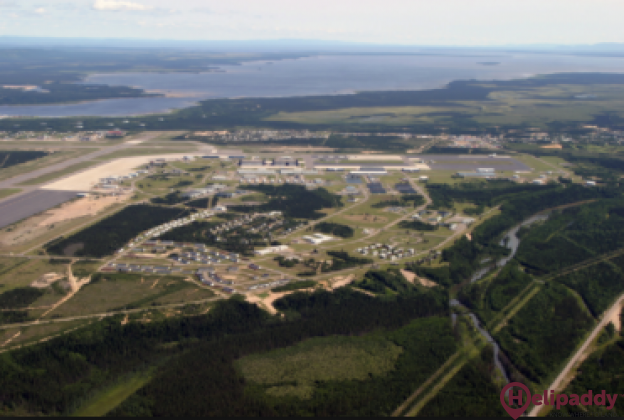 5 Wing Goose Bay  by helicopter