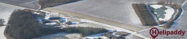 Willingale Airfield  by helicopter