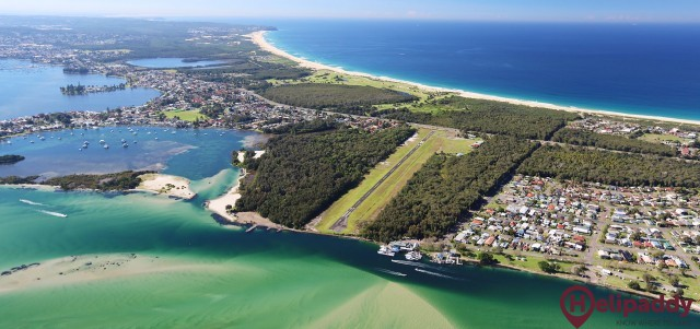 Lake Macquarie (Belmont) by helicopter