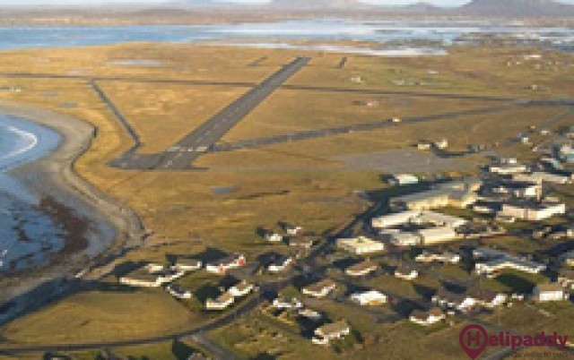 Benbecula by helicopter