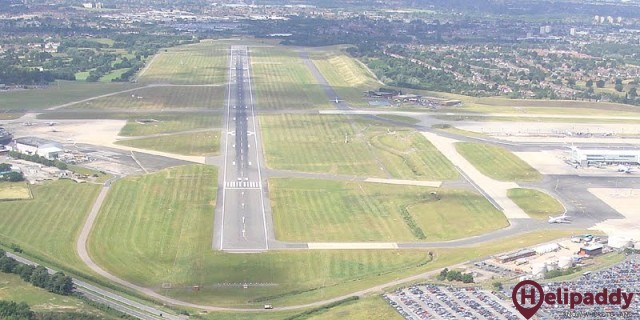 Birmingham Airport by helicopter