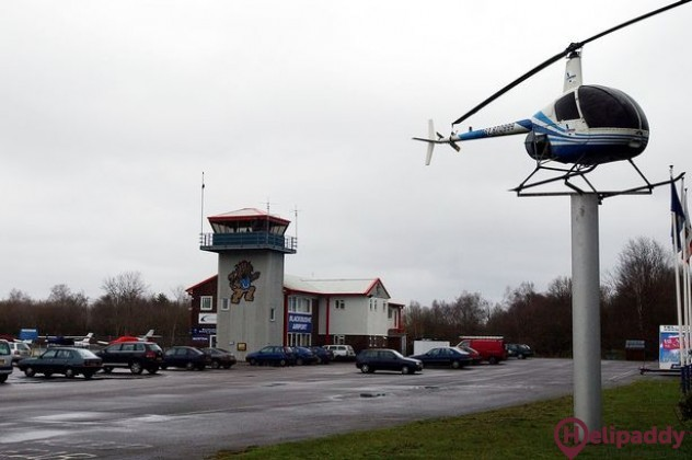 Blackbushe  by helicopter