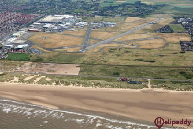 Blackpool Airport by helicopter