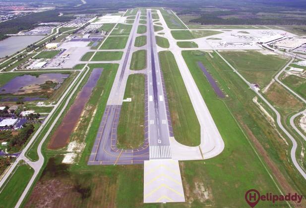 Southwest Florida International by helicopter