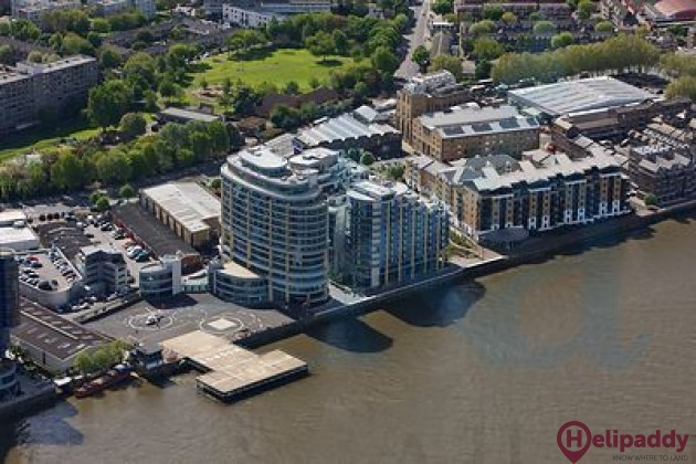 Battersea Heliport by helicopter