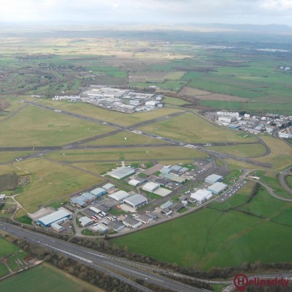 Gloucestershire  Airport by helicopter