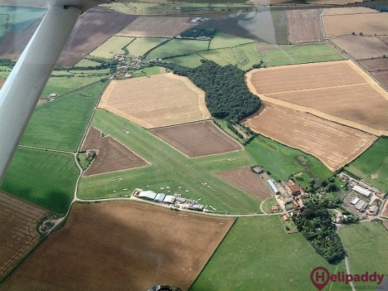 Netherthorpe Airfield by helicopter