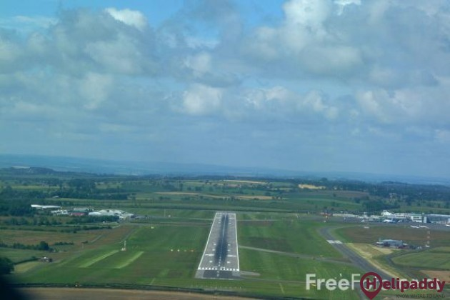Newcastle Airport by helicopter