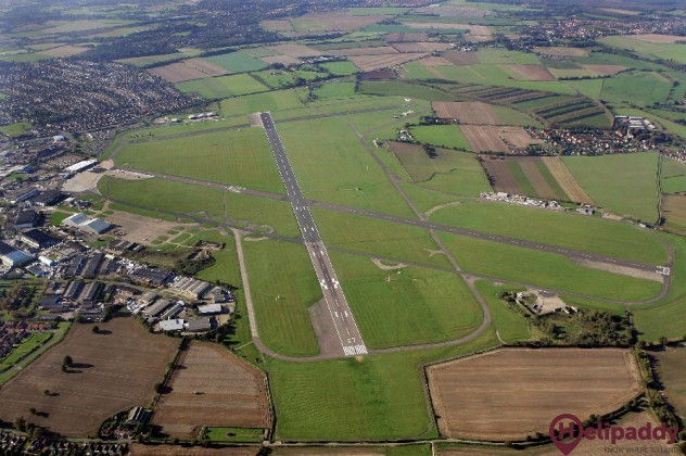 Norwich Airport by helicopter