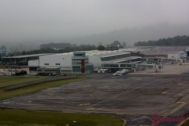 Lourdes Airport by helicopter