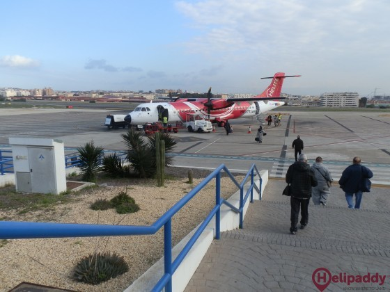 Melilla Airport by helicopter