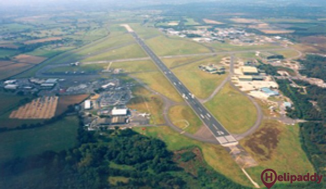 Bournemouth Airport by helicopter