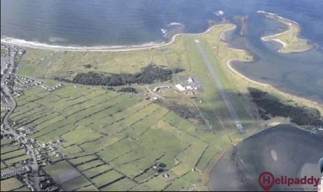 Sligo Airport by helicopter